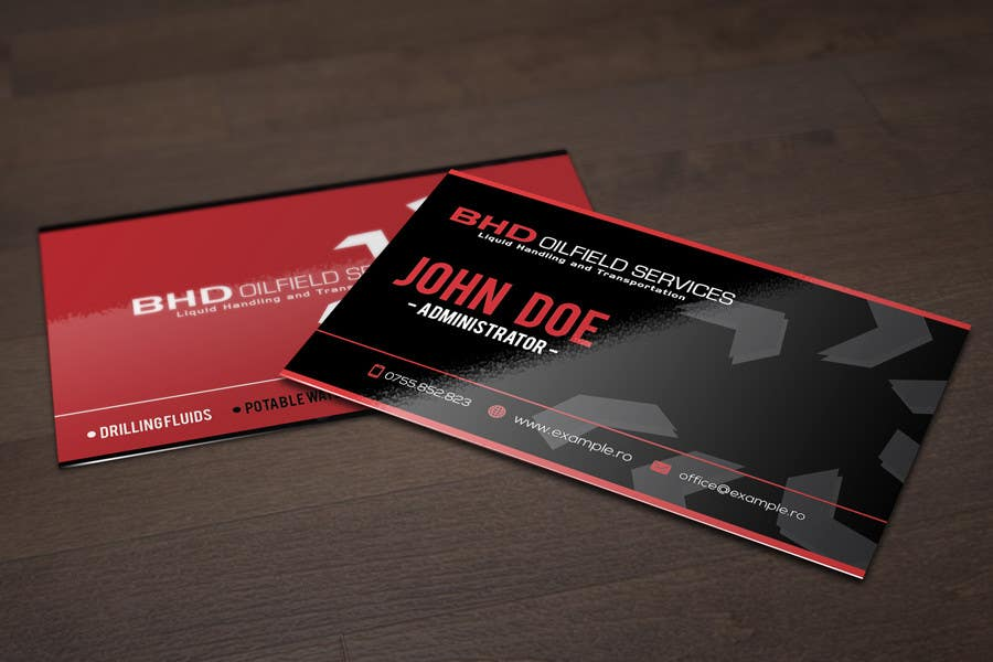 Entry #19 by dannnnny85 for BHD Oilfield Services Business Cards ...