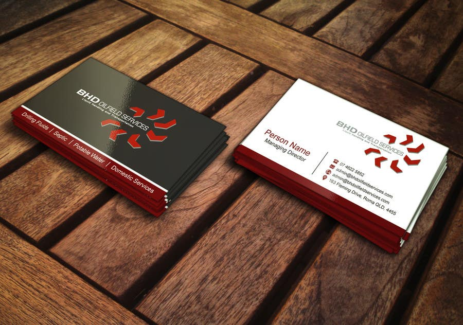 Entry #74 by mdreyad for BHD Oilfield Services Business Cards ...