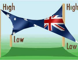 #1 for design an illustration of a hy-par shade sail with the australian flag as the shade sail by gayatry