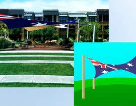 #5 for design an illustration of a hy-par shade sail with the australian flag as the shade sail by vynnymax