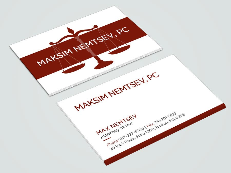 Entry #28 by shahnazakter for Design some Legal Business Cards ...