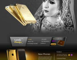 #16 for Design a Website Mockup for Luxury phones by niladrilx
