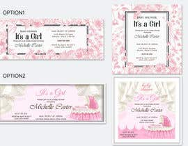 #22 for Design Baby Shower Invitation for print and digital, and a FaceBook Landing Page af spa182010