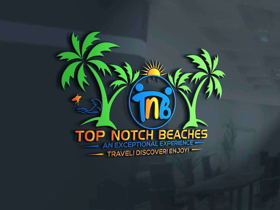 9 For Top Notch Beaches Mockup Logo Design By Bdart31