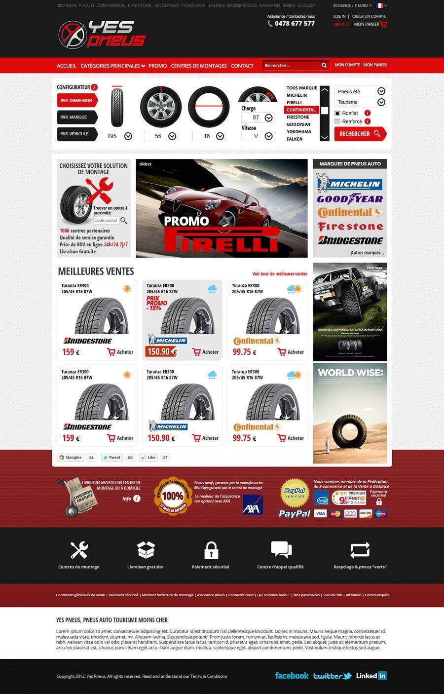#17 for Website Design for Tyres by hipnotyka