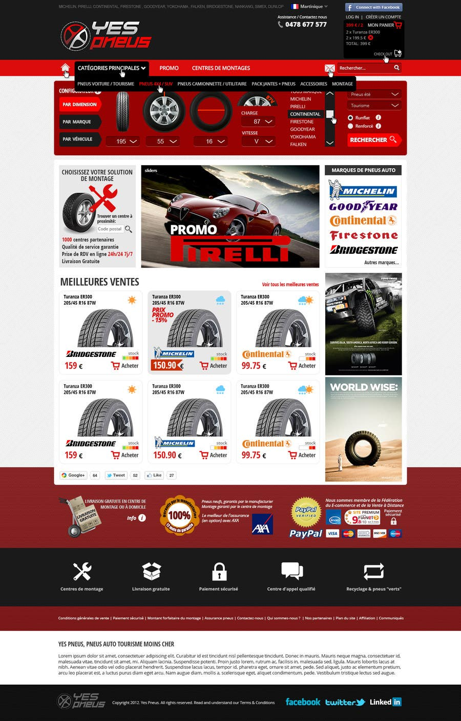 #22 for Website Design for Tyres by hipnotyka