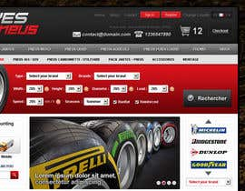 #34 para Website Design for Tyres por creator9
