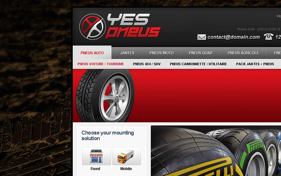 #27 for Website Design for Tyres by creator9