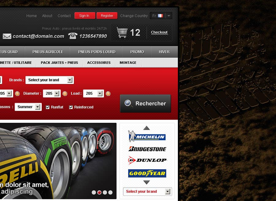 #31 for Website Design for Tyres by creator9