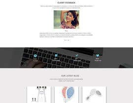 #27 for MODERN AND BEAUTIFUL LANDING PAGE NEEDED FOR BEAUTY COMPANY *URGENT* by HAFIZ779