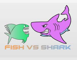 #12 for Fish vs Shark Icon/Logo by achrafboukili1