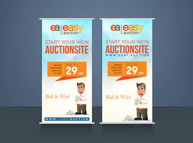 #5 for Create design for roll up banner 100x200 1.006 x 2.066 mm by rakib9008