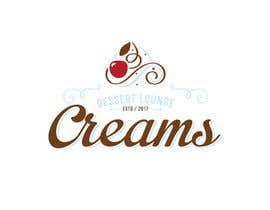 "#29 for Logo Design & Application for a Dessert Lounge ""Creams"" by vialin"