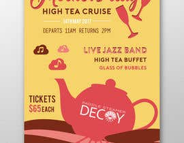 #21 for Design a Poster for a High Tea cruise on a Paddle Steamer by ofezaha