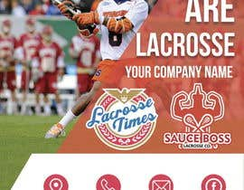 "nº 8 pour Design double sided promotional ""club"" flyer for a lacrosse company par alexparovoz"