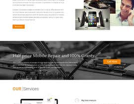 nº 6 pour Design a Website Mockup, mobile phone shop, repair and more par sharpensolutions
