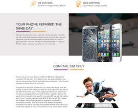 nº 10 pour Design a Website Mockup, mobile phone shop, repair and more par saurmathur