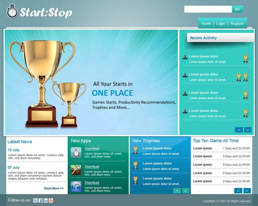 Inscrição nº 1 do Concurso para Website Design for startstop.me