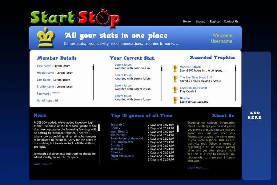 Inscrição nº 29 do Concurso para Website Design for startstop.me