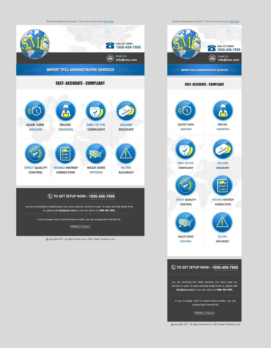 Entry #28 by chancalkmr for EMAIL TEMPLATE DESIGN and Built in HTML ...