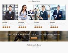 nº 4 pour Design a Website Mock up for attorney par antlogist