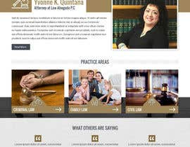 nº 18 pour Design a Website Mock up for attorney par pixelwebplanet