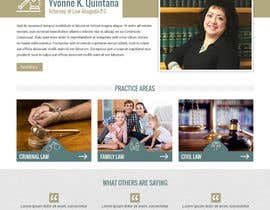 nº 19 pour Design a Website Mock up for attorney par pixelwebplanet