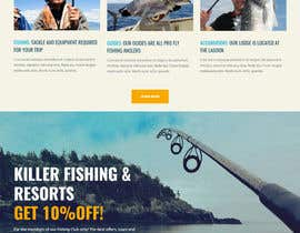 nº 7 pour Design a Website Template with a Fishing Theme par mazcrwe7