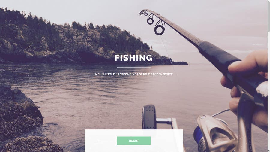 Contest Entry #6 for Design a Website Template with a Fishing Theme