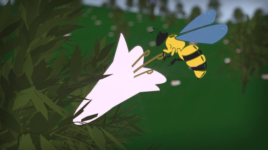 Contest Entry #8 for Create an Animation of a honey bee.