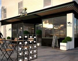 Nro 37 kilpailuun CREATIVE  DESIGN  FOR  PIZZA  CAFE  APPEARANCE käyttäjältä miljanpopovic88