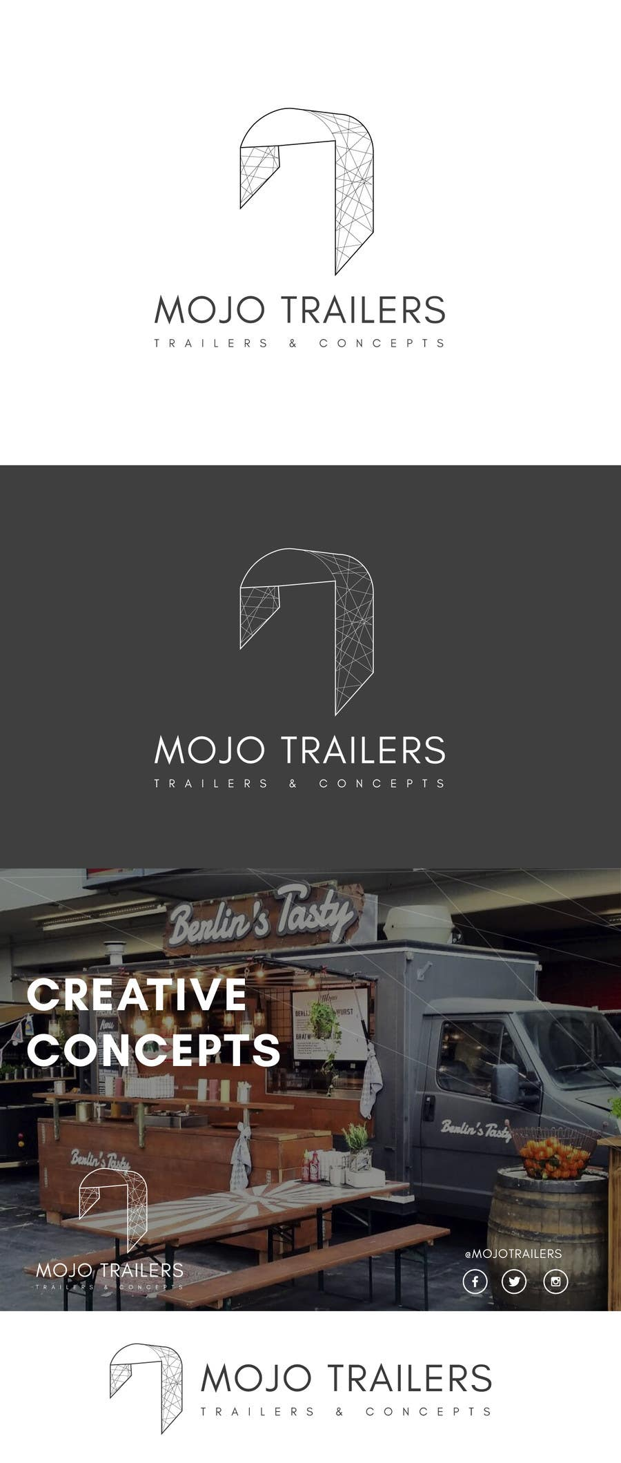 Proposition n°120 du concours Logo design for a foodtruck branding company (www.mojotrailers.com)