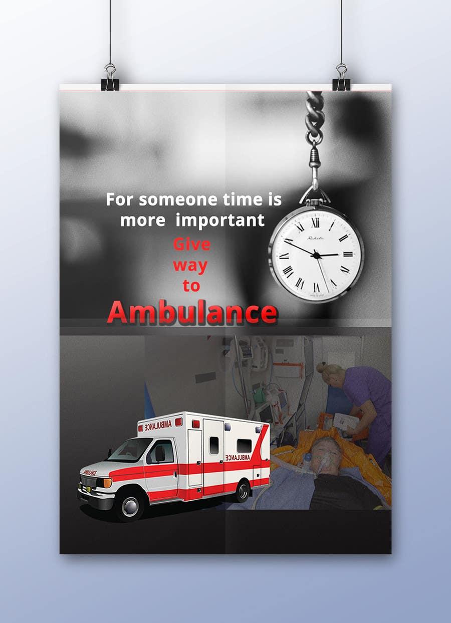 Proposition n°39 du concours Ambulance Poster Designing