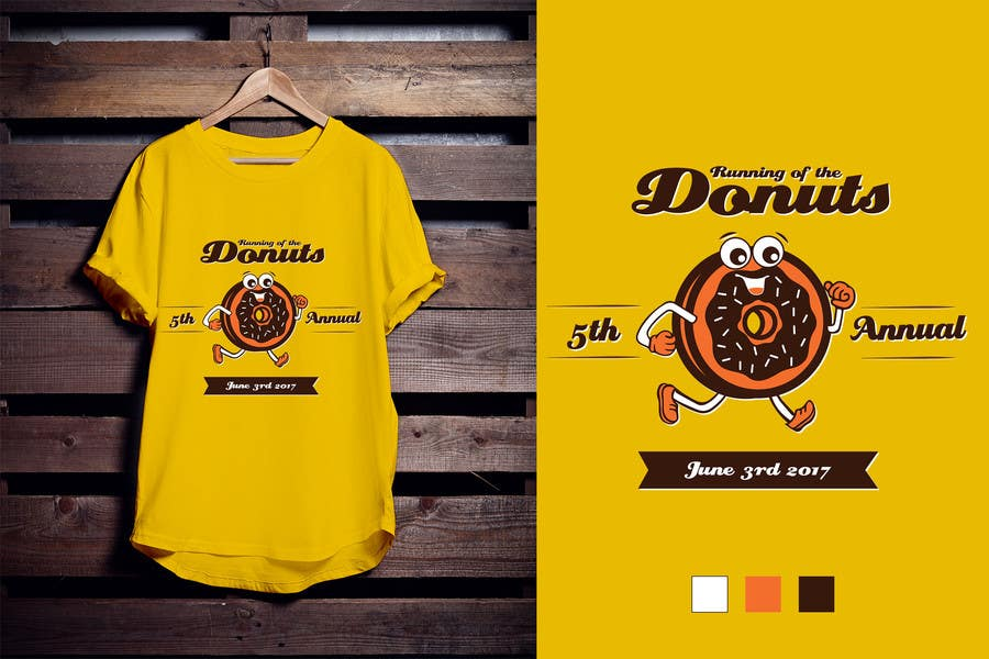 Proposition n°45 du concours Design a T-shirt for the 5th Annual Running of the Donuts