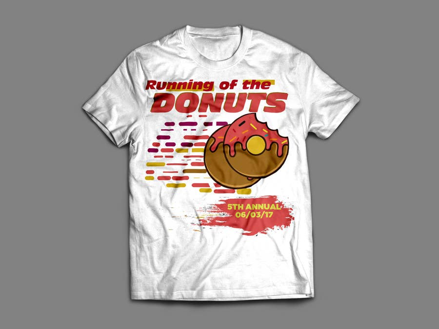 Proposition n°18 du concours Design a T-shirt for the 5th Annual Running of the Donuts