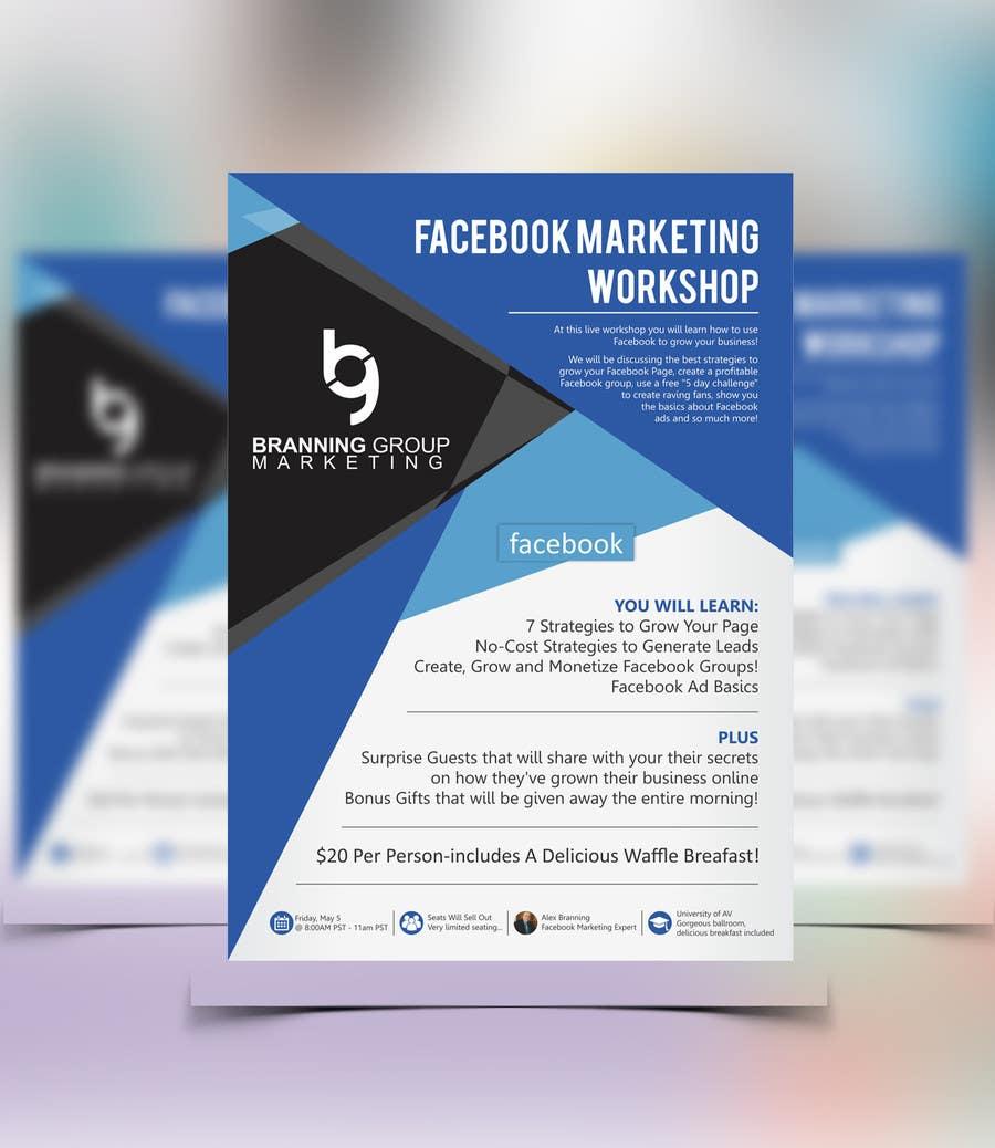 entry 66 by meenastudio for design a flyer for facebook marketing