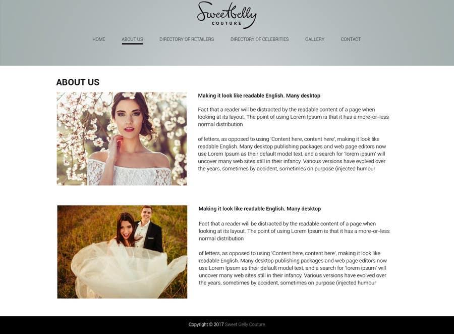 Proposition n°22 du concours Create temporary Website (Fashion), urgent
