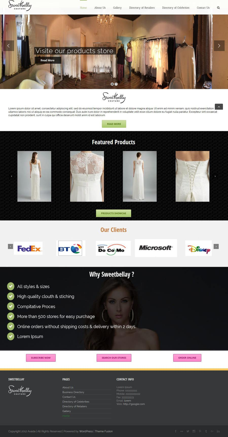 Proposition n°32 du concours Create temporary Website (Fashion), urgent