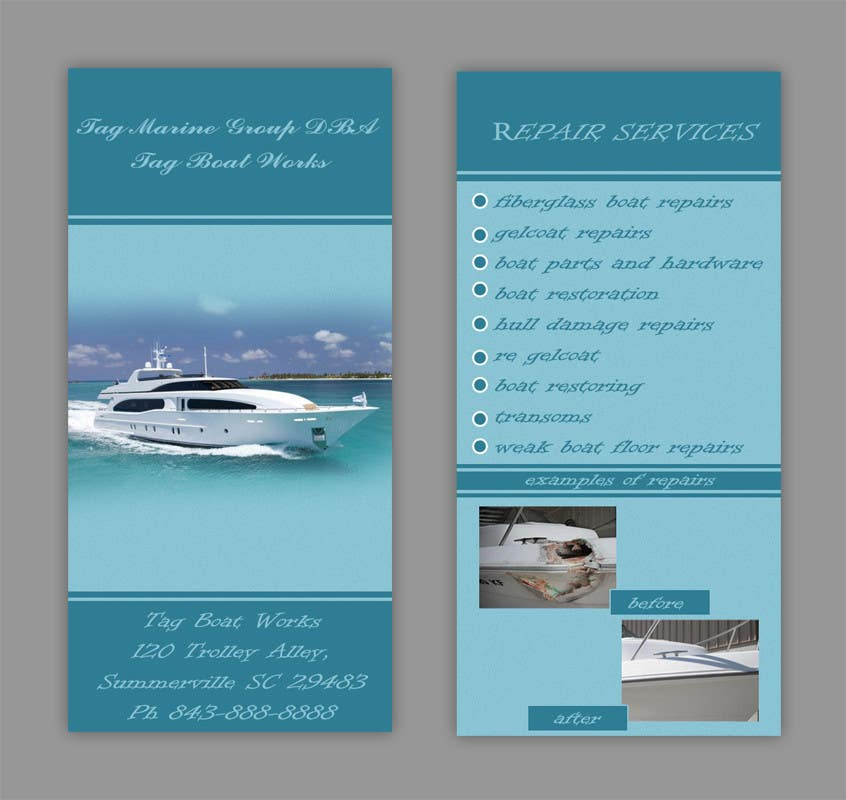 #6 for Graphic Design for Tag Marine Group DBA Tag Boat Works by Doubletstudio