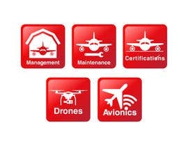 #24 for Aircraft Services Icons and Building Sign Image by dlanorselarom