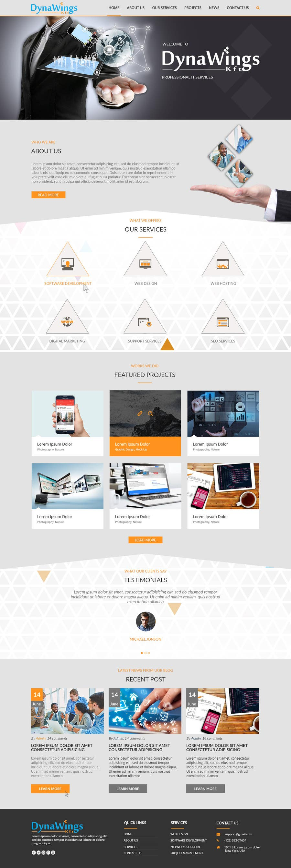 Proposition n°4 du concours Design a Website Mockup