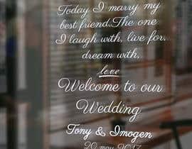 Nro 11 kilpailuun Wedding Welcome Sign käyttäjältä Ruhulamin360