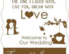 Nro 6 kilpailuun Wedding Welcome Sign käyttäjältä freeland972