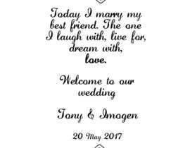 Nro 18 kilpailuun Wedding Welcome Sign käyttäjältä sonalfriends86