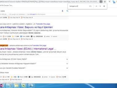 1st page ranking on Google.com.tr  Keyword:- ecaa vizesi  URL :- lexlegal.com
