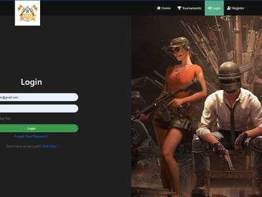 Battle pubg is a tournament based website where user pay and join in tournament and play pubg game and win the prizes. There are different types of tournament for winning prizes.   Environment: Larave php, javascript, html5, vuejs and css