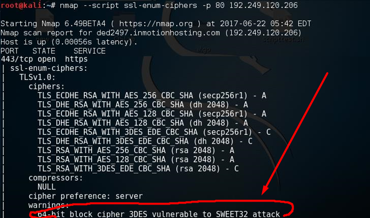 During Penetration testing  found SWEET32 Attack.