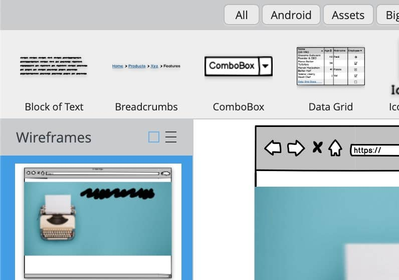 balsamiq add text