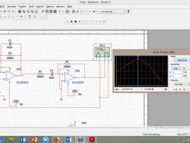 """Real time data acquisition using Myoware Sensor ,Arduino and Matlab Interface"" ""Frequency Response checking via Matlab"" + ""Circuit Design"" + ""Circuit Simulation"" + ""Arduino and Matlab interfacing""+ ""Hardware Implementation"""