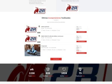 Website for normal users and professionals to share their bikes. They are able to start a conversation with the owner of the bike they like and to post ads.
